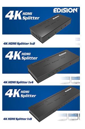 4K HDMI активни сплитери