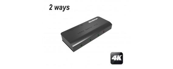 4К HDMI активен сплитер EDISION 1x2
