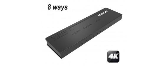 4К HDMI активен сплитер EDISION 1x8