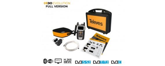 Уред за настройка Televes H30EVOLUTION DVB-S/S2 + DVB-C + DVB-T/T2 + IPTV + WiFi + HEVC + CASE