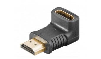 HDMI ъглов адаптор: HDMI женски - HDMI мъжки, на 270 градуса, позлатен
