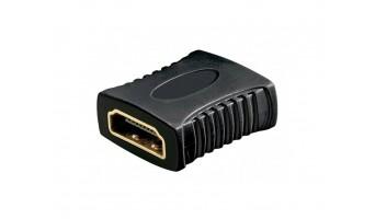 HDMI адаптор: HDMI женски - HDMI женски, позлатен