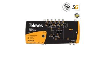 DTKom широколентов усилвател 5G LTE 31-41dB 123dBuV 5 входа