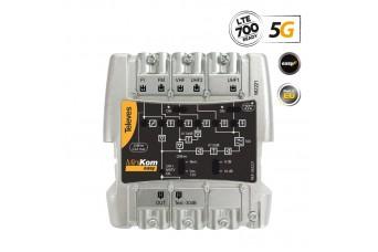 MiniKom широколентов усилвател Easy-F 5G LTE 115dBuV FM/V/2xU/SAT