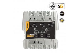 MiniKom широколентов усилвател Easy-F 5G LTE 116dBuV FM/V/2xU