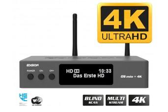 EDISION OS MIO+ 4K UHD S2X + S2/T2/C Grey H.265 HEVC