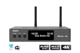 EDISION OS MIO+ 4K UHD S2X + S2/T2/C Grey H.265 HEVC MULTISTREAM