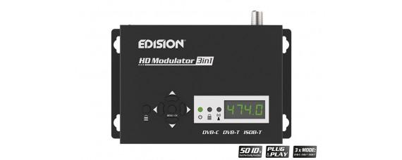 DVB-C, DVB-T и ISDB-T модулатор EDISION HD 3in1