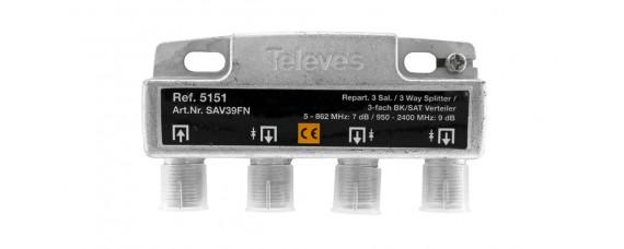 Televes 5151 ВЧ сплитер 3 изхода