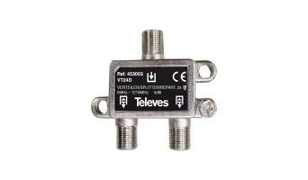 Сплитер с 2 изхода 5-1218Mhz Televes 453003