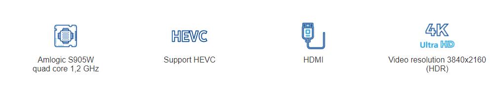 IPTV приемник Mediacenter TVIP S-Box v.605